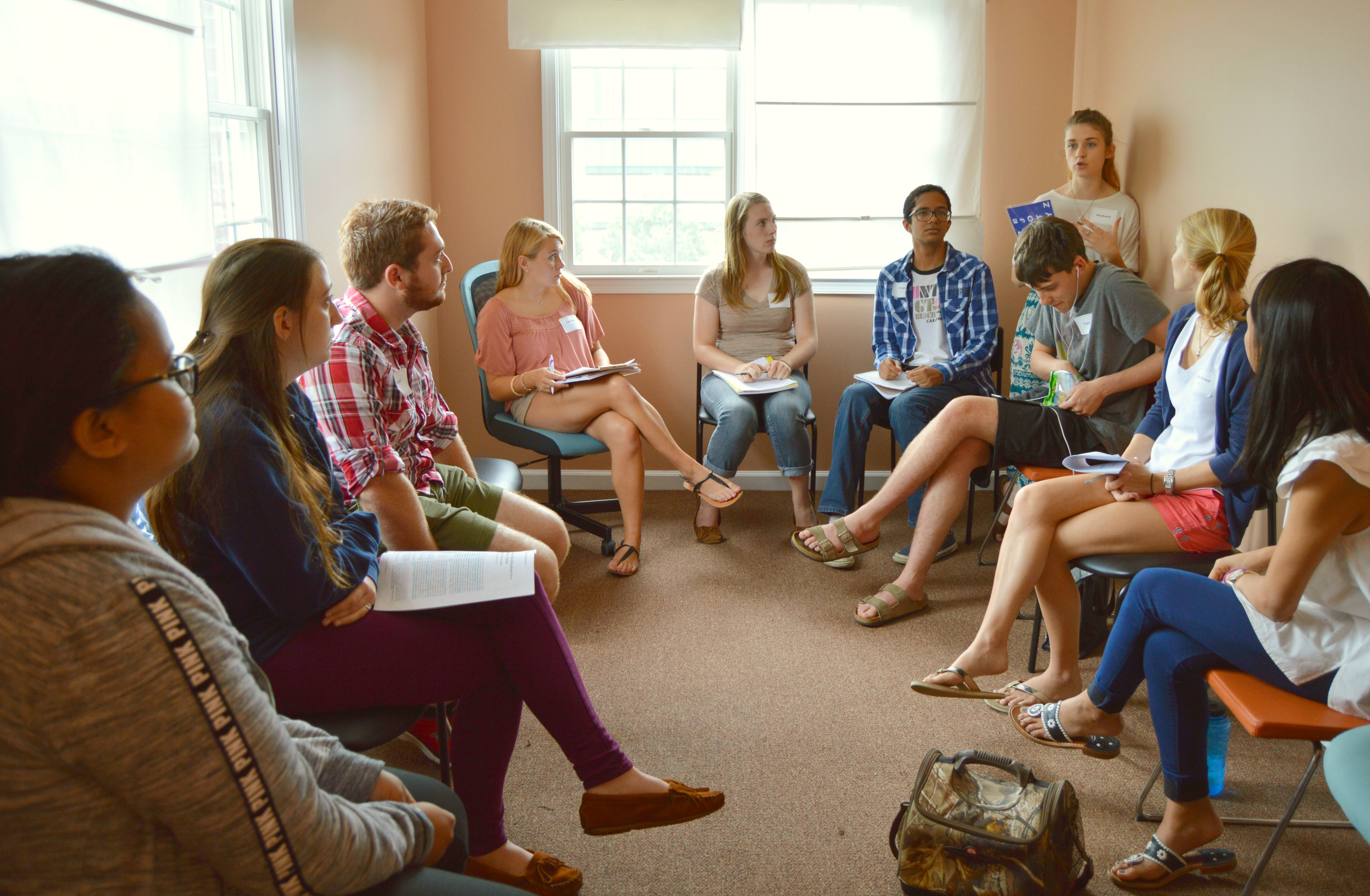 The students had their first meeting Sept. 17 in Herndon. (Photo courtesy of Tiffany Hwang)