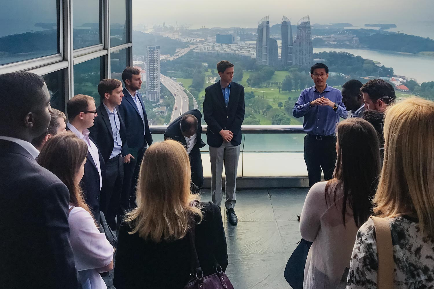 Darden students visit PSA in Singapore, a leader in global ports, as part of their Darden Worldwide Course to Singapore and Sri Lanka focused on addressing tough problems in business and society.