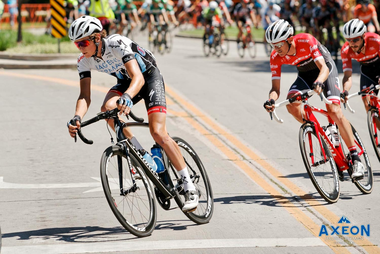 Anderson racing in the Colorado Classic in August, a four-stage race covering 313 miles.