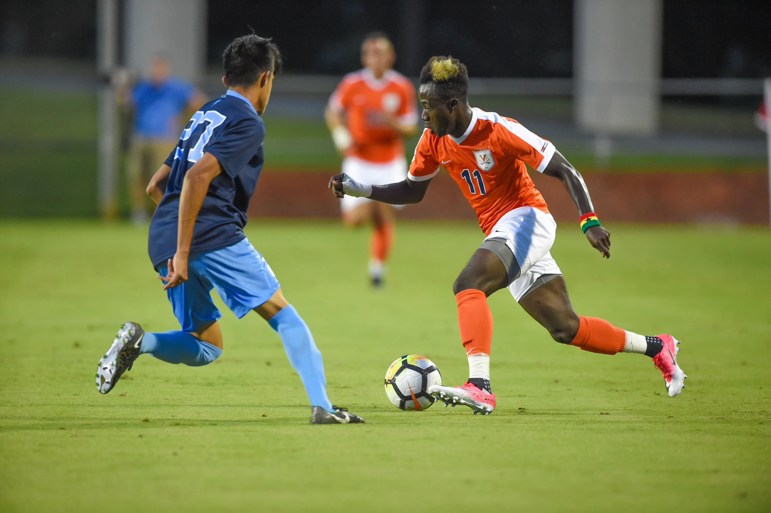 Maturing into a more team-oriented role, Opoku leads the Cavaliers with seven goals and three assists through the team's first 13 matches.
