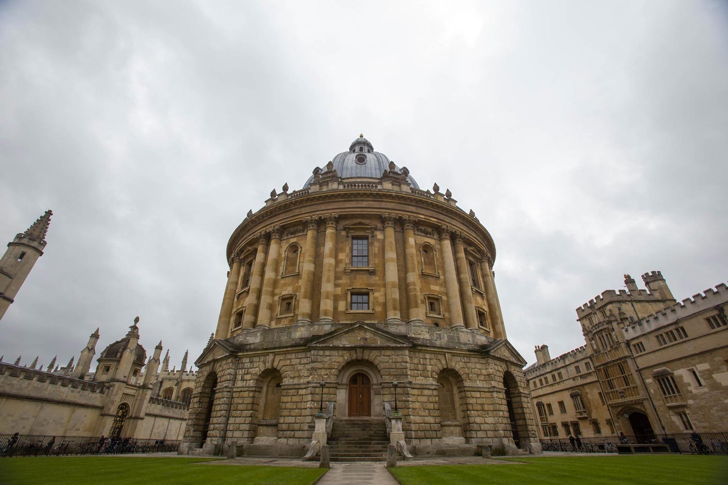 Cox said she spends a lot of time in Oxford's famous Radcliffe Camera, which functions as the main reading room of the university's Bodelian Library.