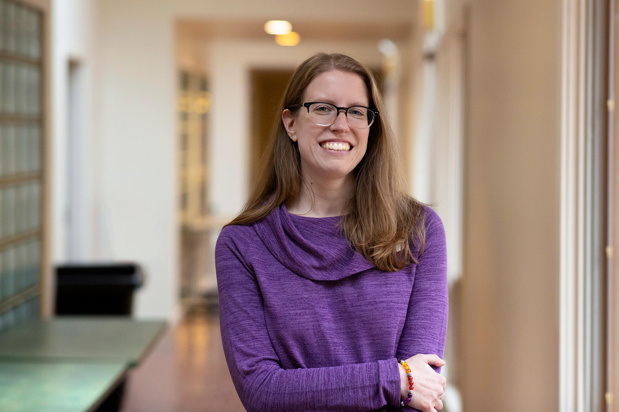 "Postdoctoral researcher Emily Loeb is the lead author of ""Autonomy and Relatedness in Early Adolescent Friendships as Predictors of Short- and Long-Term Academic Success."""