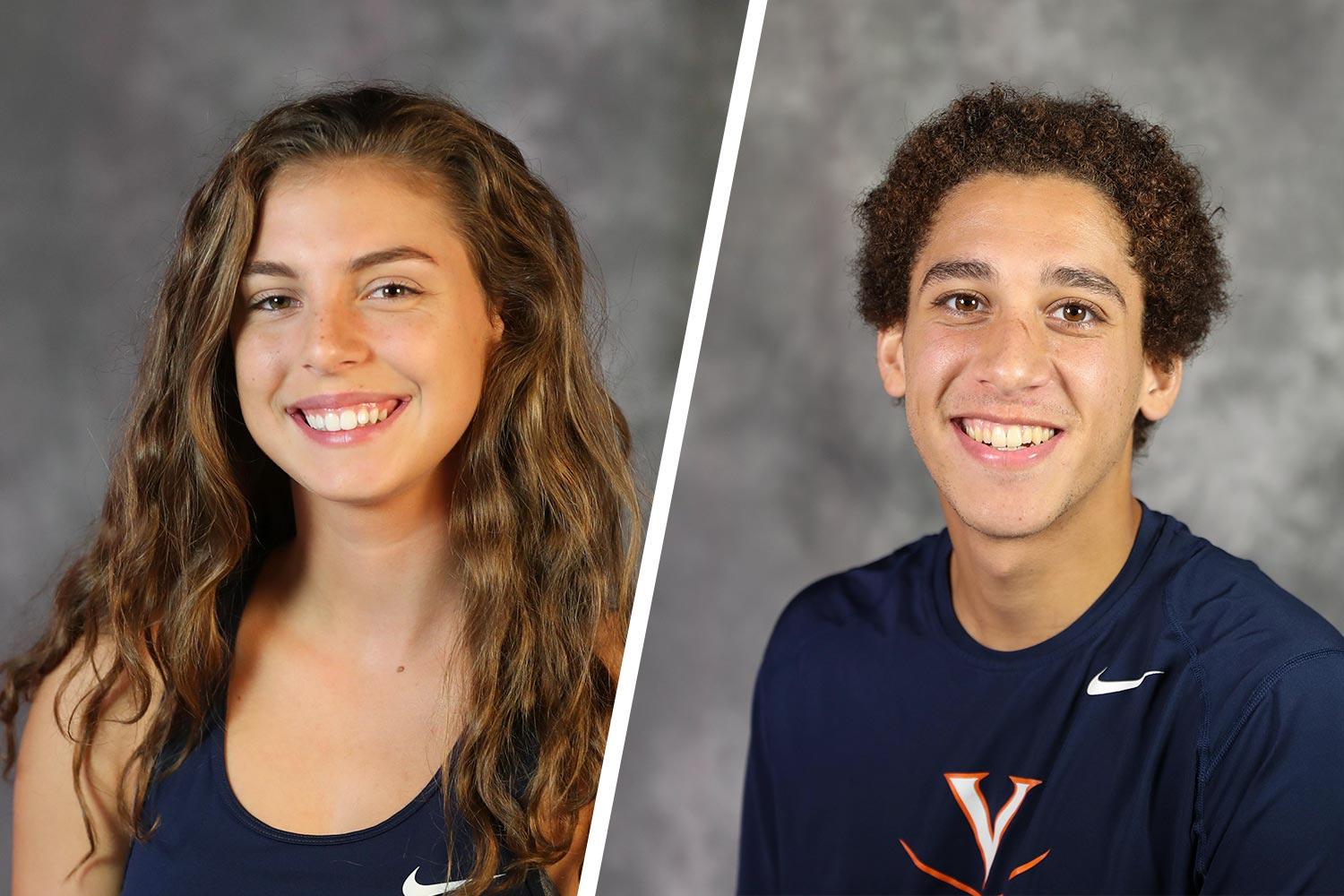 UVA squash players Emma Jinks, left, and Aly Hussein hope to play on the pro tour someday.