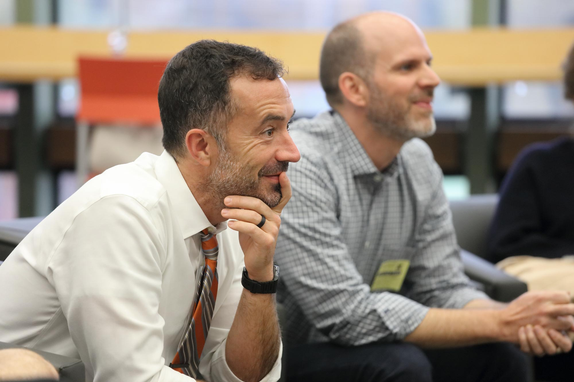 CHS engineering teacher Matthew Shields and UVA professor Jonathan L. Goodall both graduated from UVA Engineering in 2001. Now they are bringing their students together to demonstrate the power of community in tackling challenging problems.