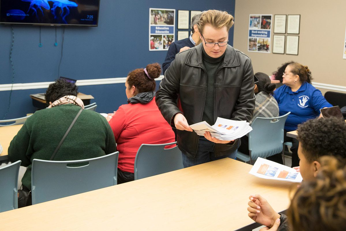 UVA faculty members and students helped high school students and their families fill out the Free Application for Federal Student Aid, or FAFSA.