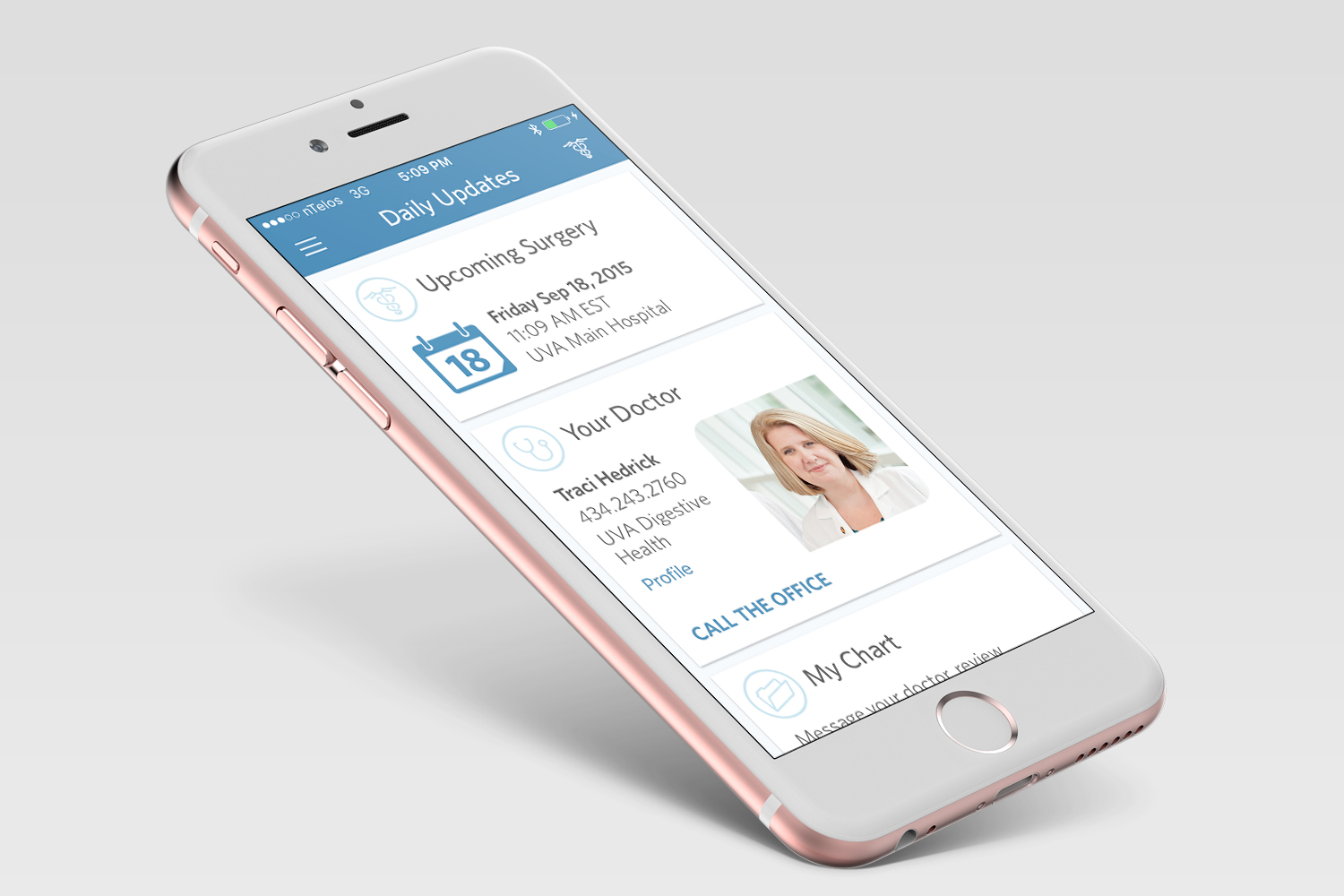 A new smartphone app has helped reduce complications from elective colorectal surgery.