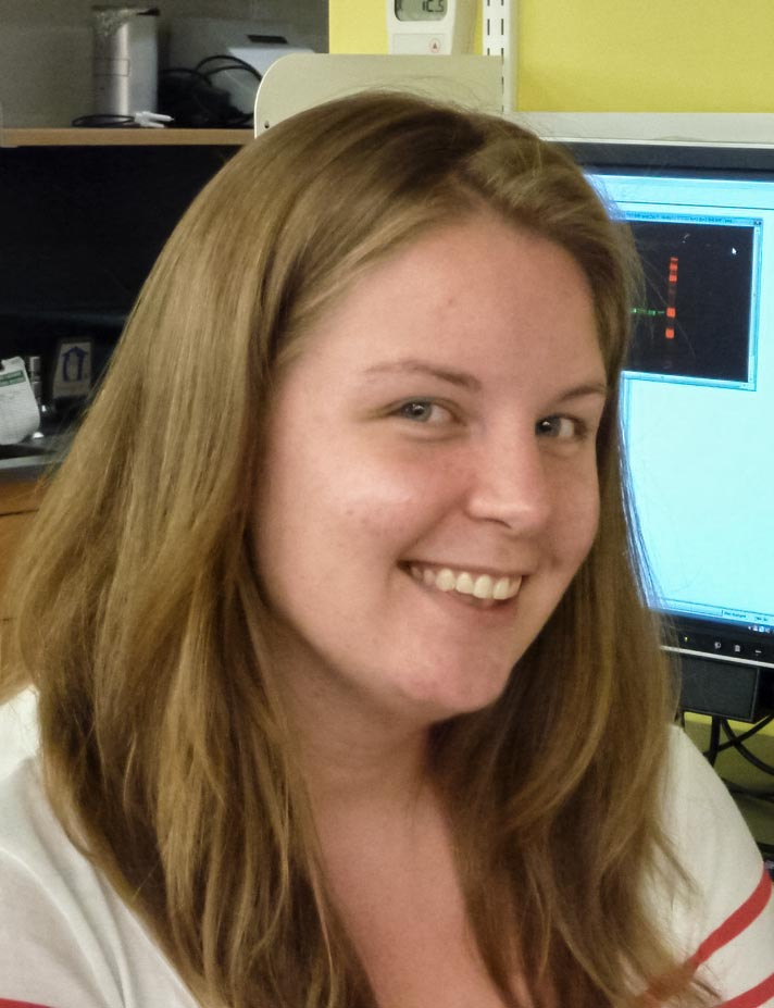 Erin Kodis, who last May earned her Ph.D. in biology, conducted the study.