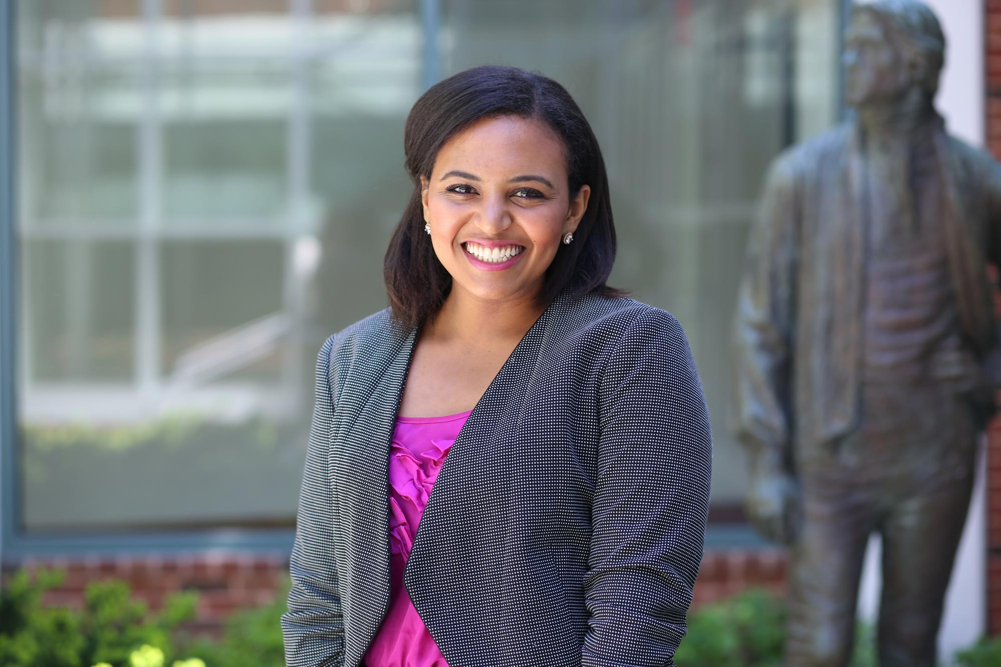 Law student and undergraduate alumna Erin Seagears received the Gregory H. Swanson Award, which recognizes students who demonstrate courage, perseverance and a commitment to justice within the community.