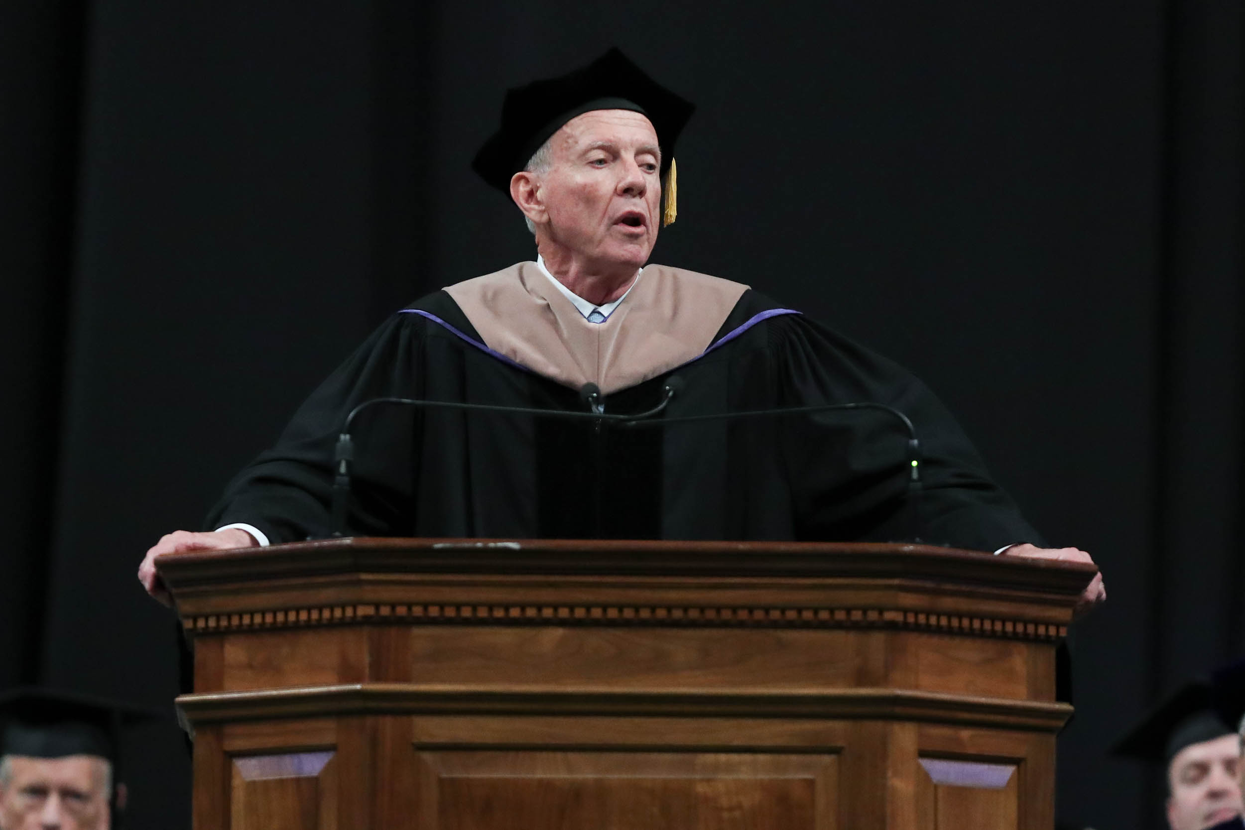 Robert D. Sweeney, who led capital campaigns that raised more than $4 billion for the University, received the Thomas Jefferson Award for Service.