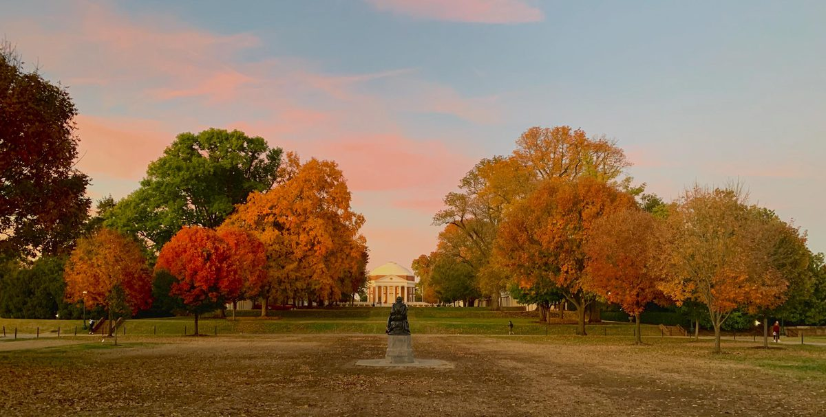 Fall photo contest winner Margaret Lather captured the best of fall on Grounds. (Photo courtesy Margaret Lather)