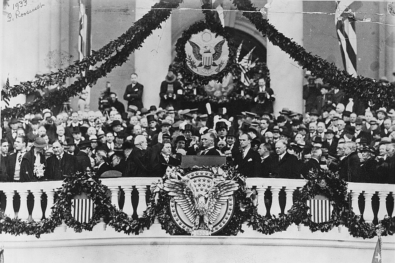 Franklin Delano Roosevelt is the only president to be inaugurated four times, and was the first to take office in January. (Photo courtesy Library of Congress)