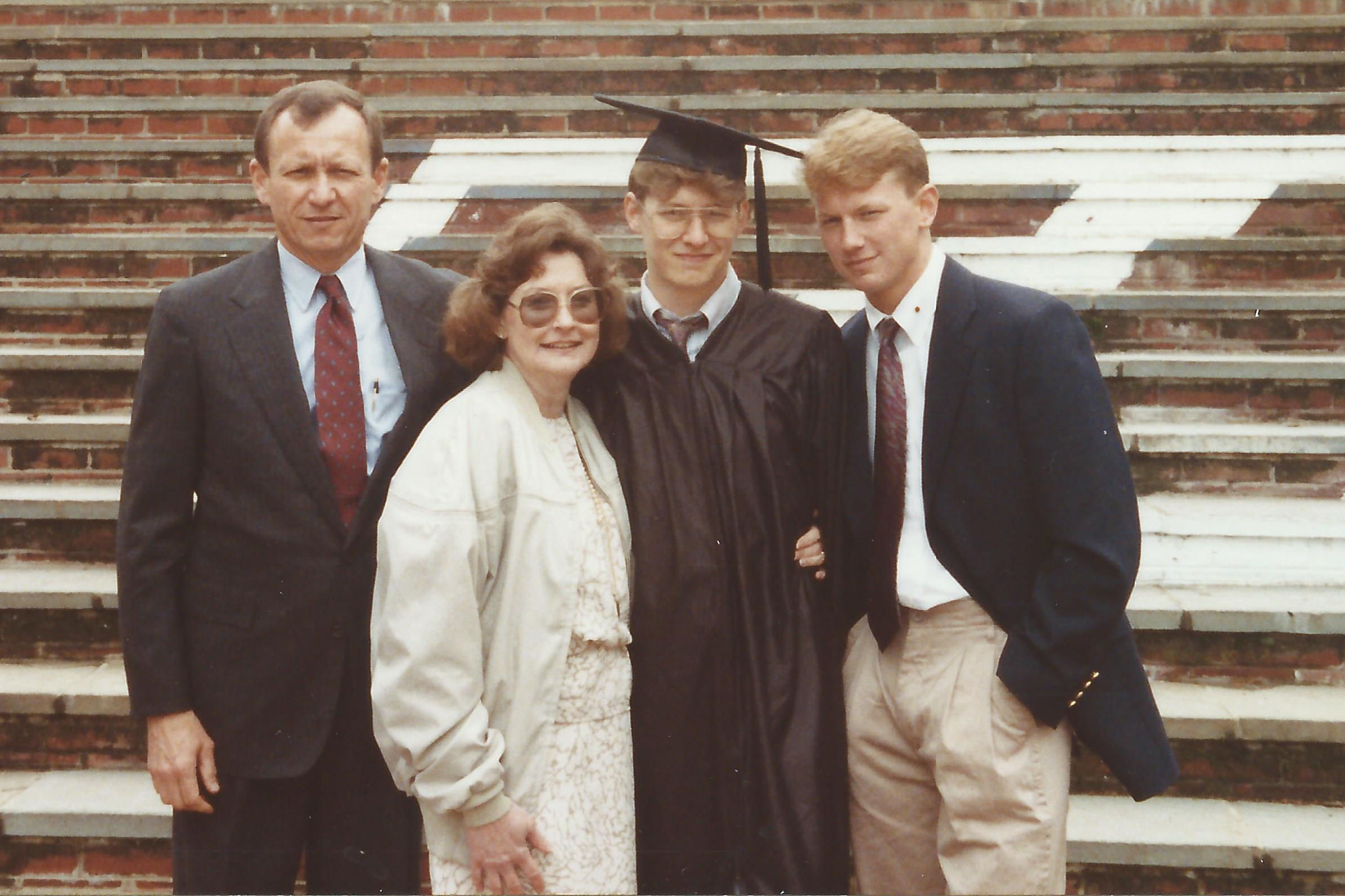 In 1991, Seth Folsom completed his first year and his brother Ben graduated. (Image courtesy Seth Folsom.)