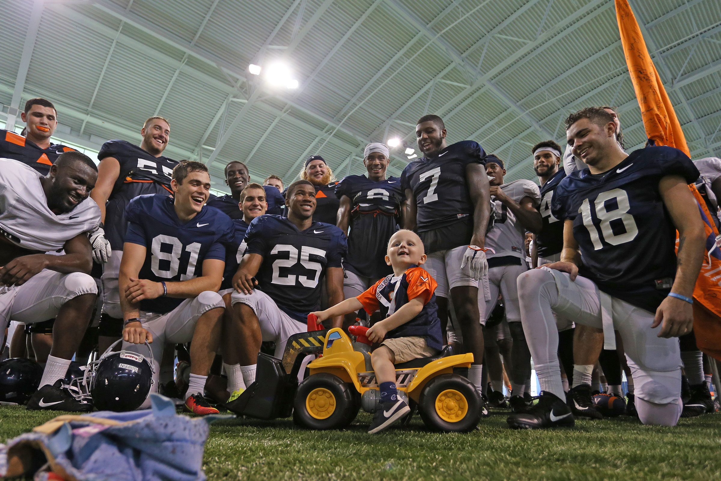 """Thursday Hero"" Luke Edwards was thrilled to join the football team for practice in the fall."