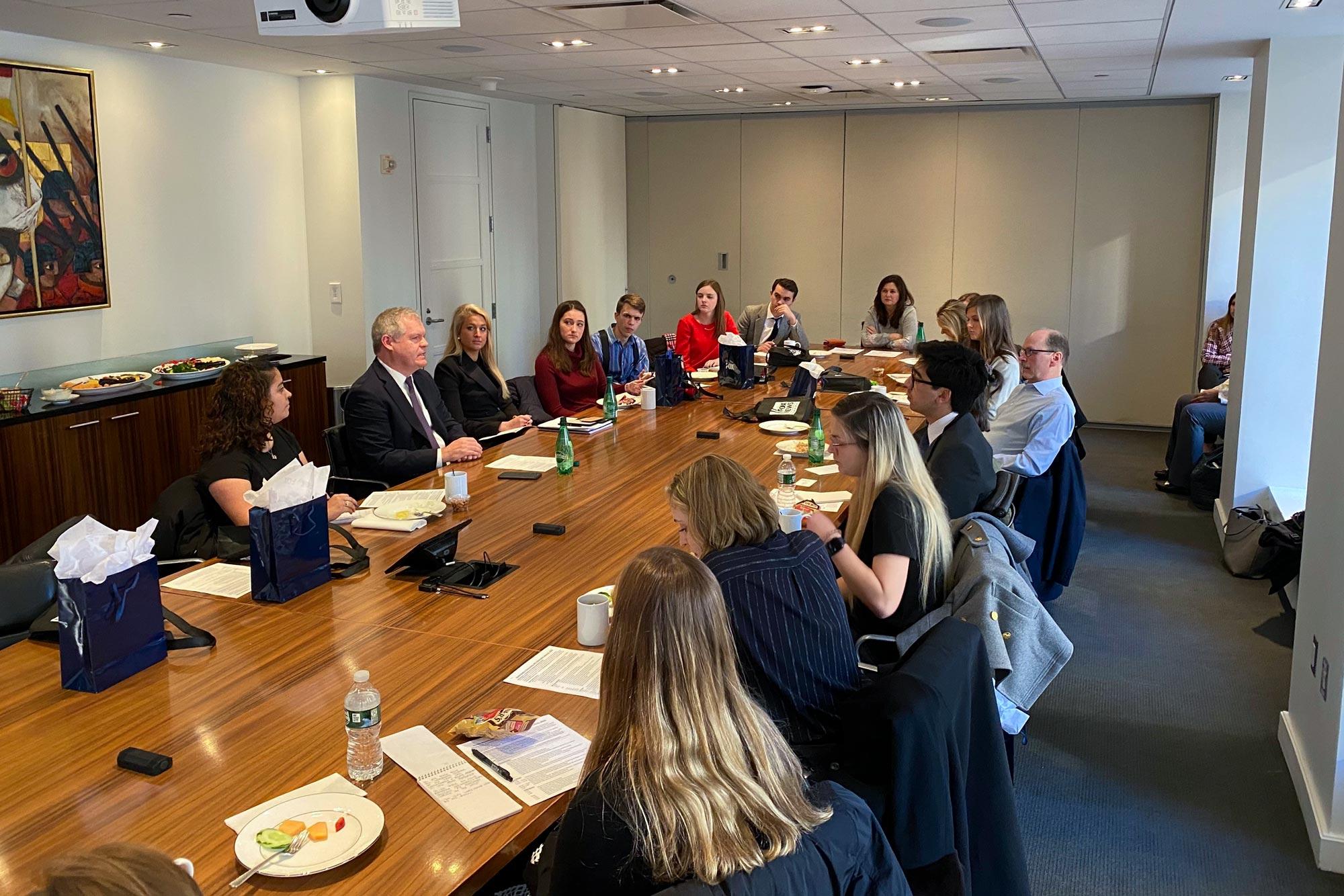 Students at a Fox News meeting.