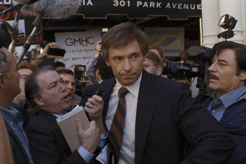 """""""The Front Runner"""" stars Hugh Jackman as beleaguered presidential candidate Gary Hart."""