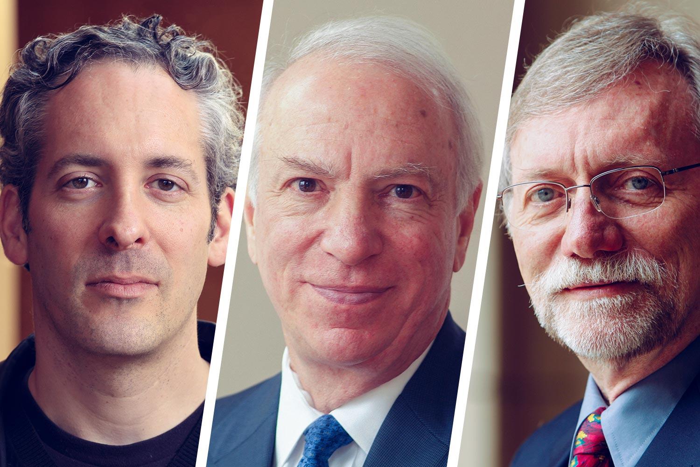 From left, law professors Brandon Garrett, Richard Bonnie and John Monahan are leading the research effort.