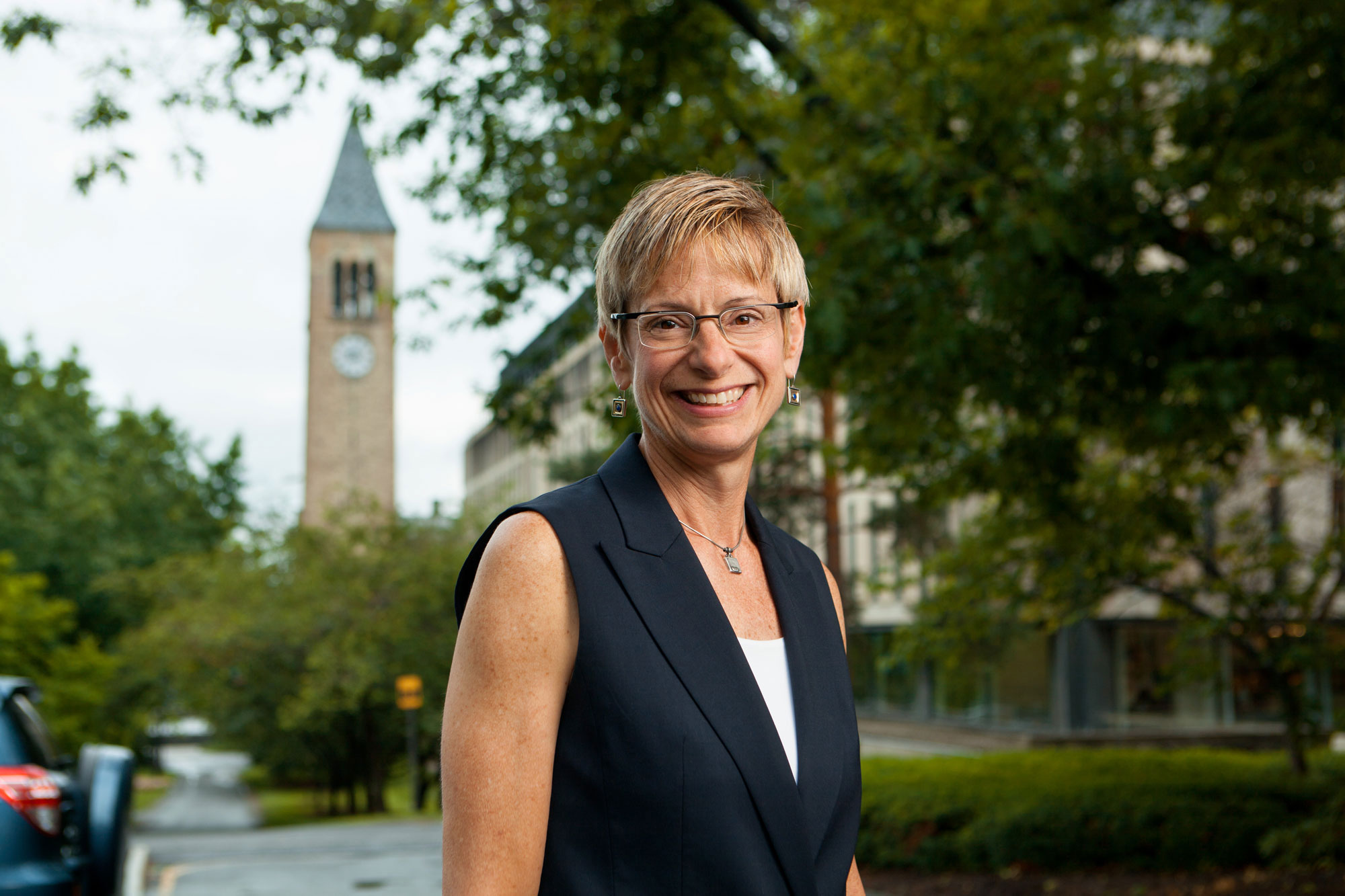 The late Beth Garrett was serving as president of Cornell University when she died in 2016. (Photo courtesy of Cornell University)