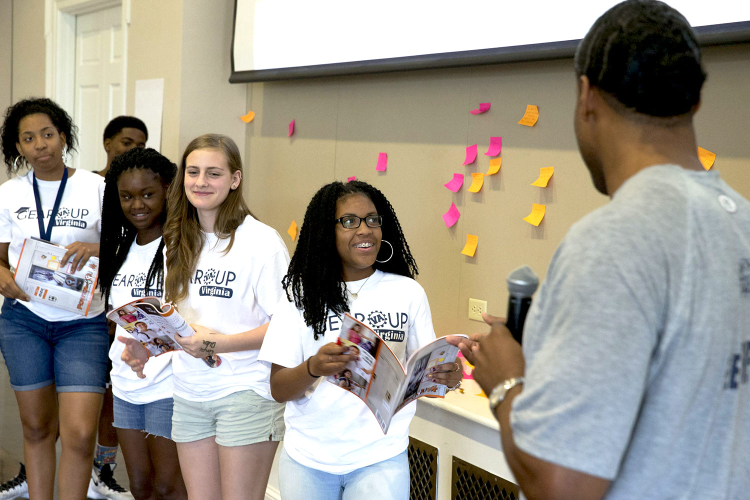 The GEAR UP program drew nearly 300 rising high school freshmen to Grounds for two four-day sessions.