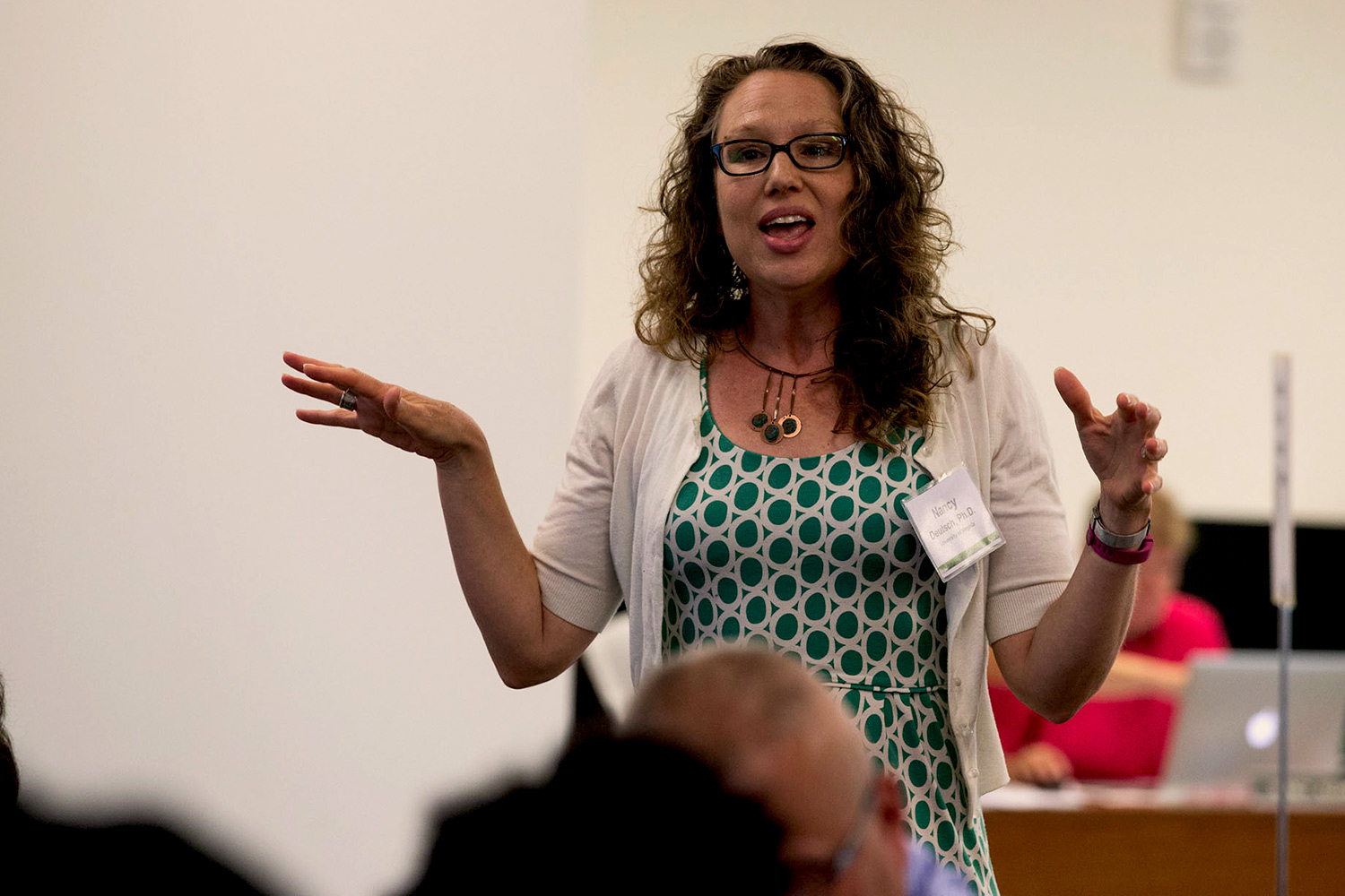 Nancy Deutsch, an associate professor in the Curry School of Education, led a discussion on developing strategies to prevent and respond to incidences of violence on college campuses.