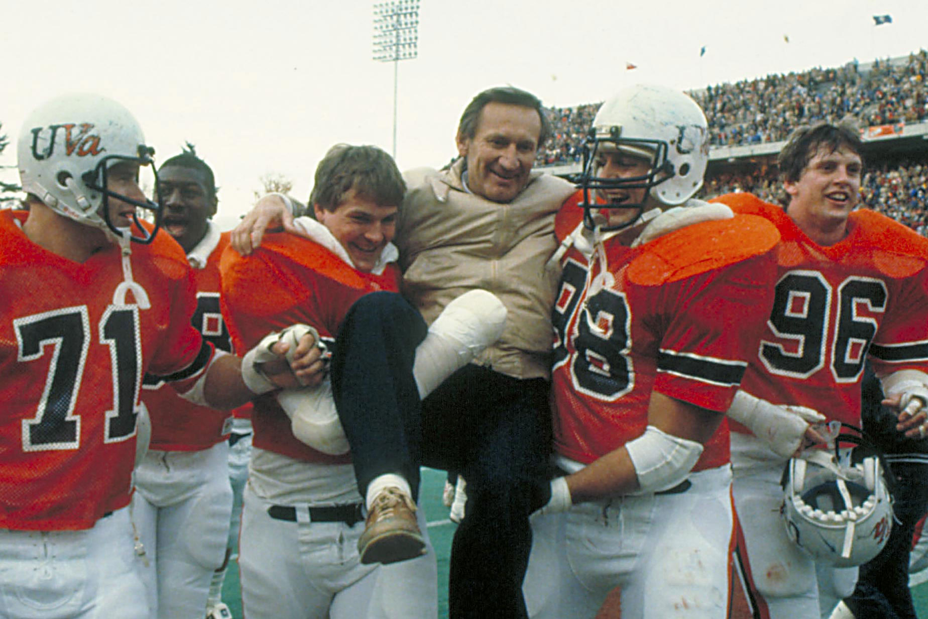 In the 29 years before George Welsh came to Charlottesville, the Cavalier football team had two winning seasons. He took them to 12 bowl games in 19 years and is enshrined in the College Football Hall of Fame.