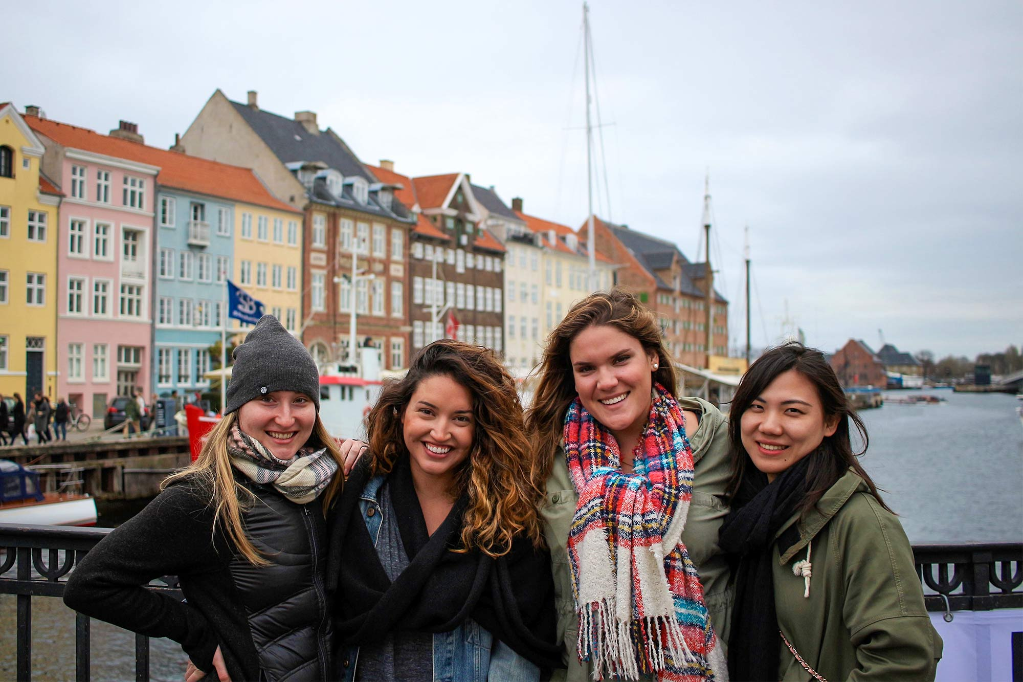 Prochna, third from left, with classmates in Copenhagen.