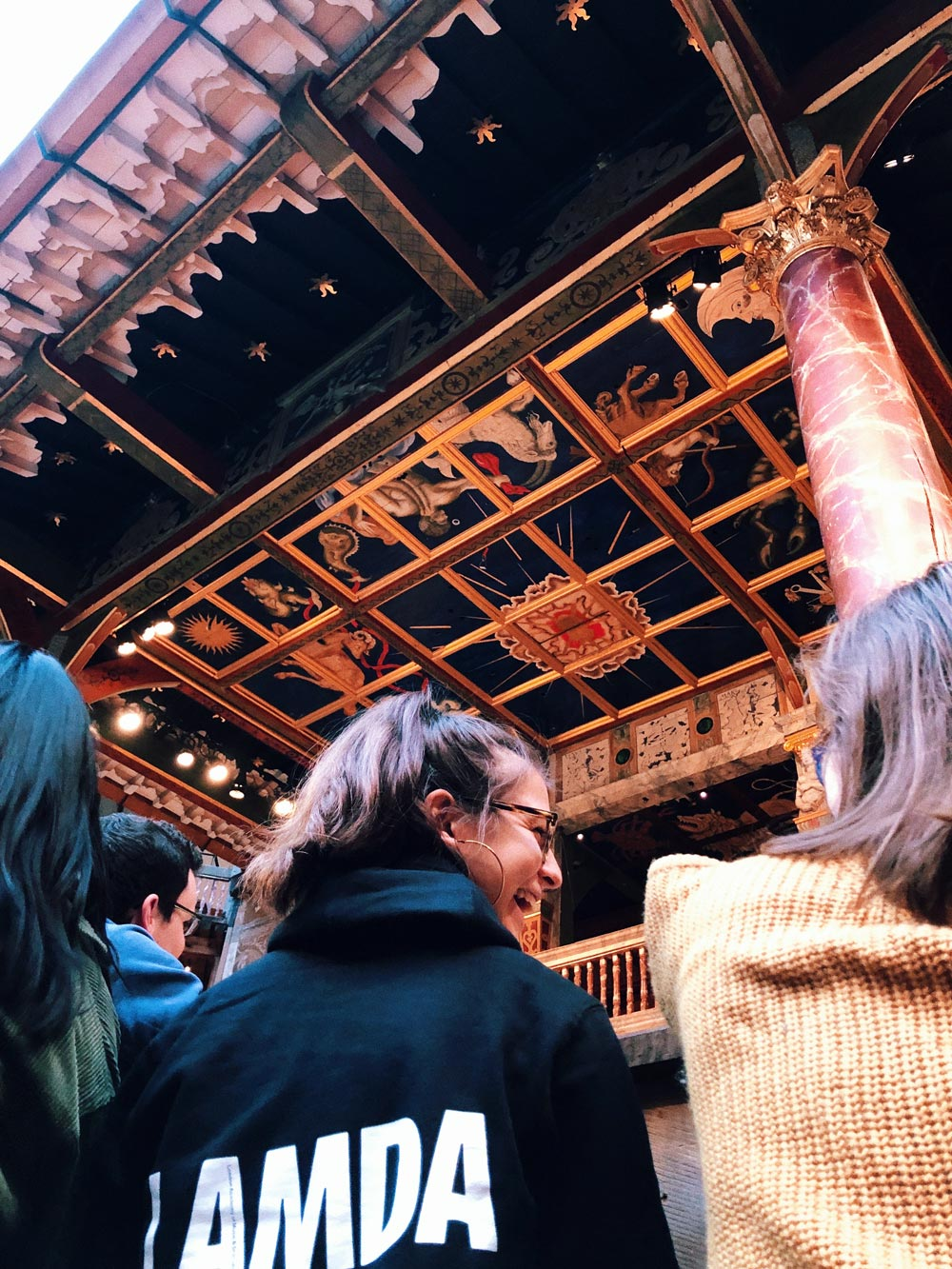 Moledor saw 51 plays while in London, including many at the Globe Theatre, shown here.
