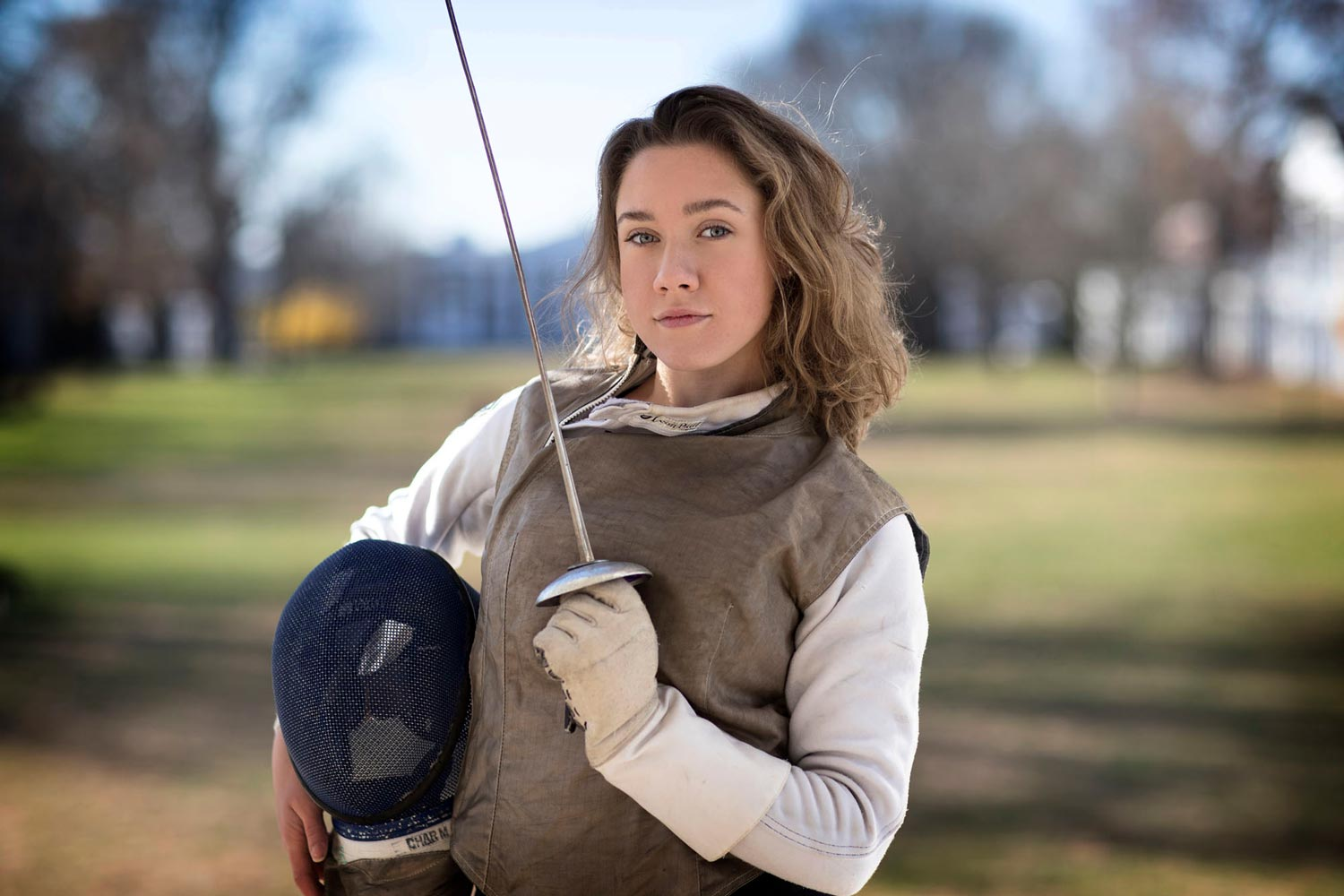 In addition to competing herself, Grayson Katzenbach is a fencing coach and referee for the U.S. Fencing Association.