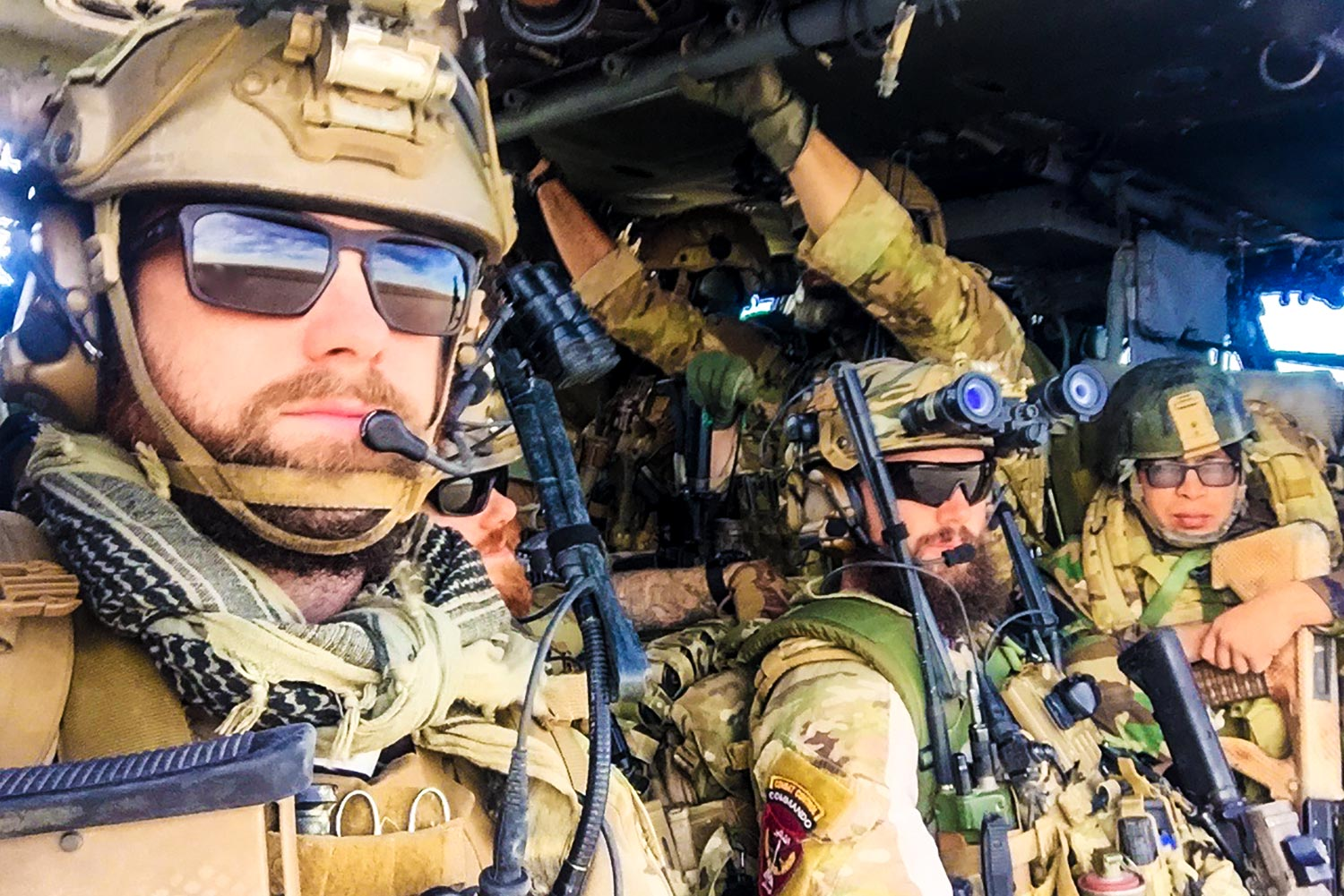 Sargent with his fellow Green Berets in Afghanistan.
