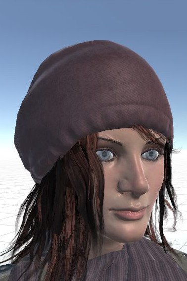 "A 3-D rendering of Lina Garrett, the main character in ""Gray Skies, Dark Waters."""