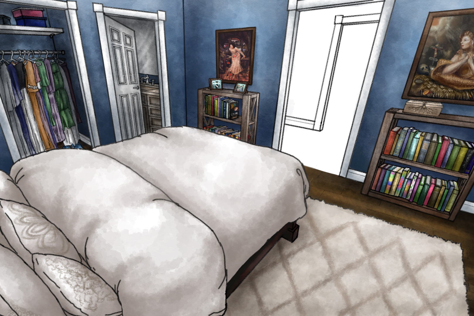 A scene from main character Lina's house.