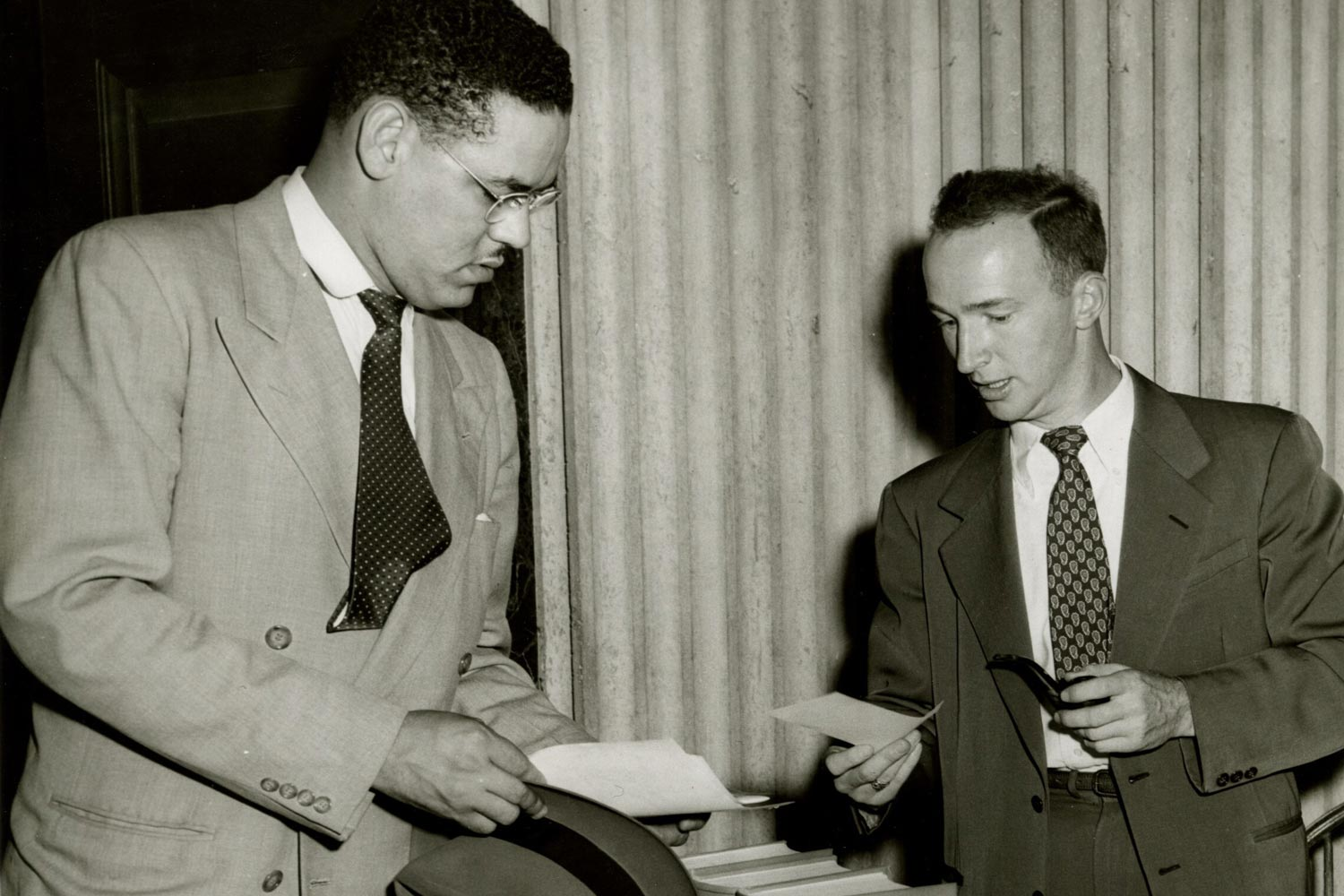 Gregory Swanson broke the color barrier at UVA Law School in 1950. (Photo courtesy of UVA Albert and Shirley Small Special Colllections Library)