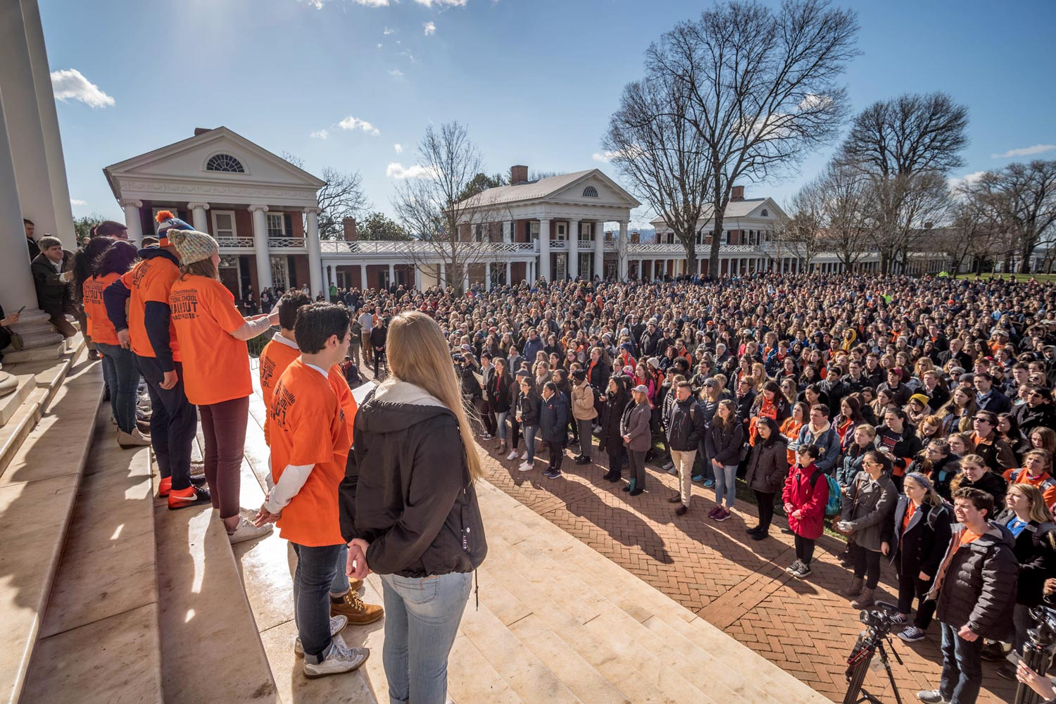 Student Council President Sarah Kenny led the organization of the March 14 walkout at UVA. Hundreds of students, faculty, staff and community members joined the protest.