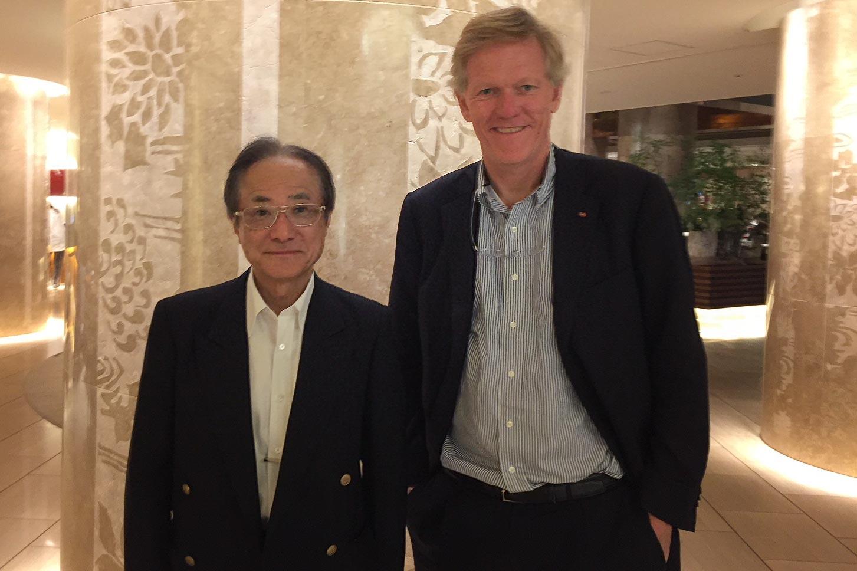 Hamaguchi with Darden Dean Scott Beardsley in Tokyo.