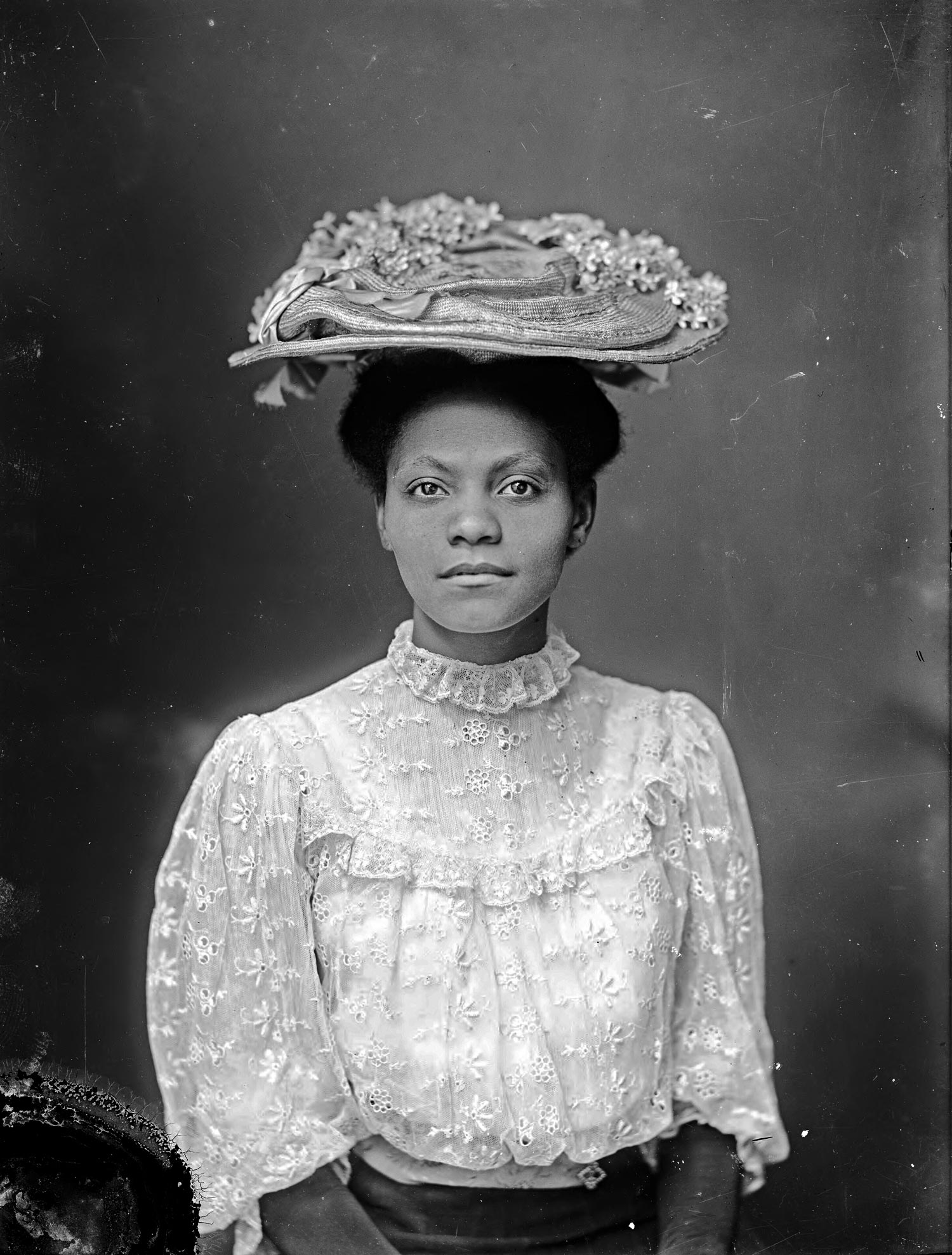 An unidentified woman, date unknown. Rufus W. Holsinger Photo. The Albert and Shirley Small Special Collections Library, University of Virginia.