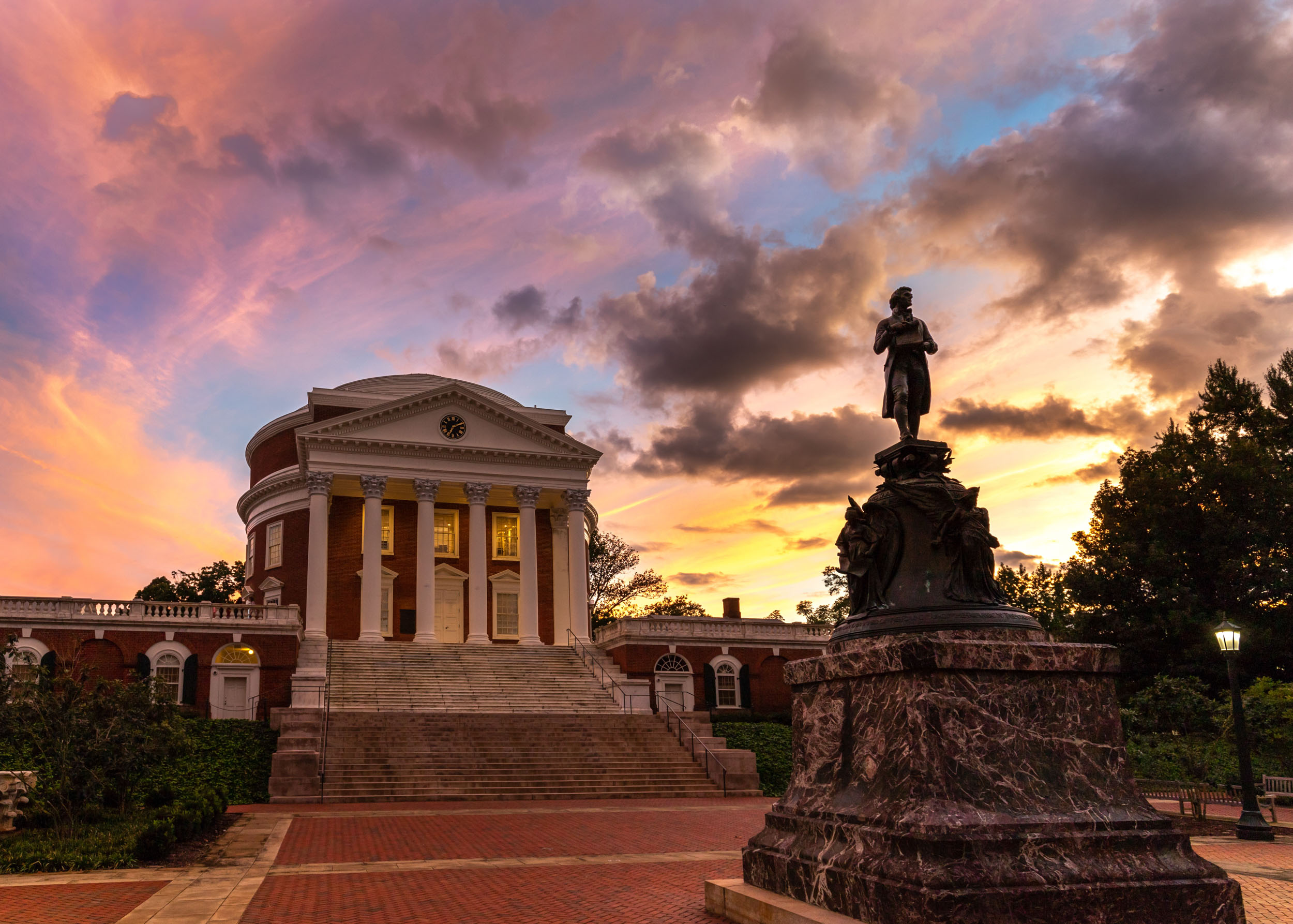 Crane's Instagram account presents a rainbow of UVA skies to its followers. (Photo by Joshua Crane)