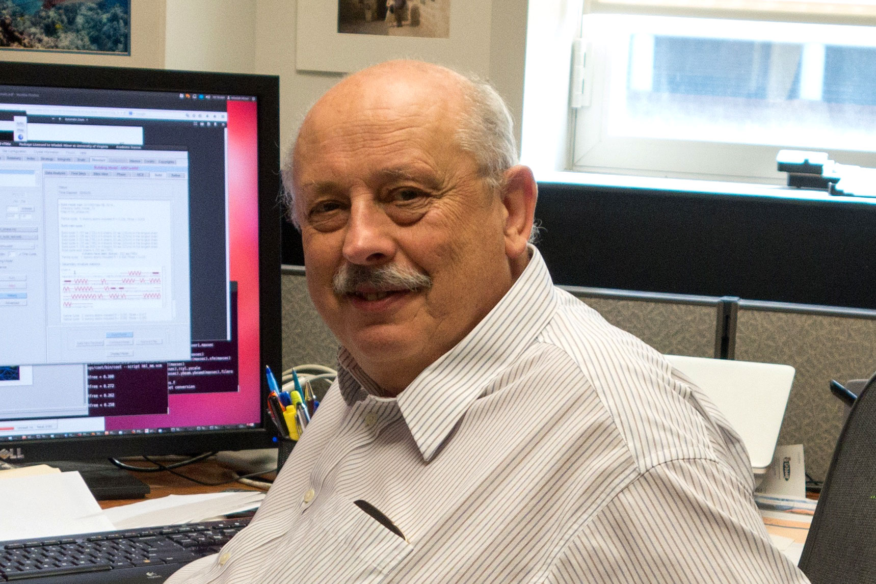 Wladek Minor of UVA's Department of Molecular Physiology and Biological Physics led the research effort to image zinc and serum albumin. (UVA Health System photo)