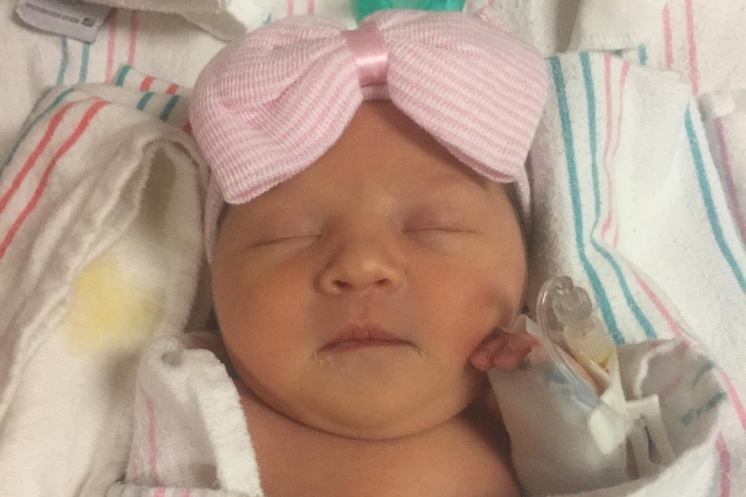 Adrielle Charlotte Smith safely arrived in the midst of one of the worst storms in U.S. history. (Photo courtesy of Greg and Annie Smith)