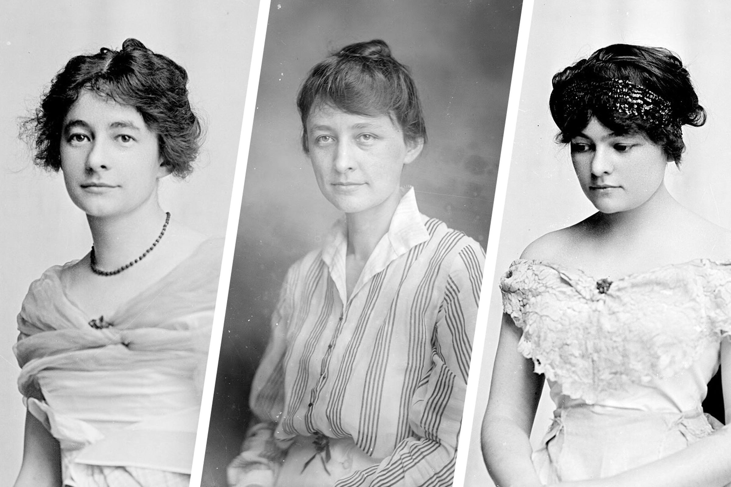 Left to right: Ida, Georgia and Anita O'Keeffe. In these photographs by Rufus Holsinger, Georgia O'Keeffe's style clearly stands apart from that of her two sisters.