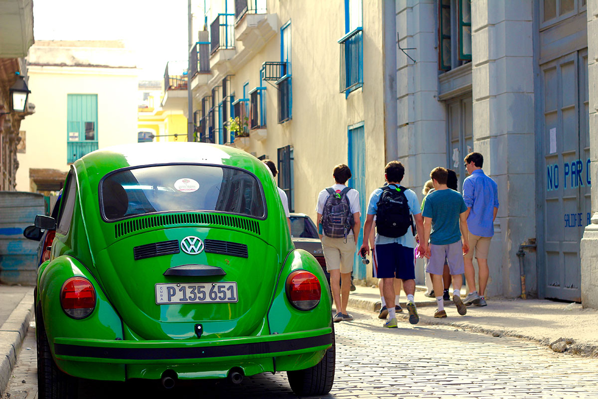 In addition to touring various farms and natural parks, students got to explore the history and culture of Havana. (Photo courtesy of Zack Ackerman)