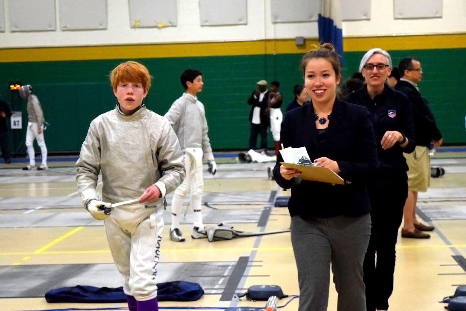 A middle-school crush led Kyono to the sport of fencing. She's now seeking to become an international-level referee.