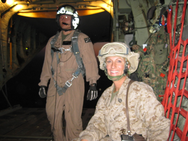 UVA fourth-year Kim Johnson, right, was deployed to Al-Asad Air Base, Iraq in support of Operation Iraqi Freedom in July of 2008. (Contributed photo)