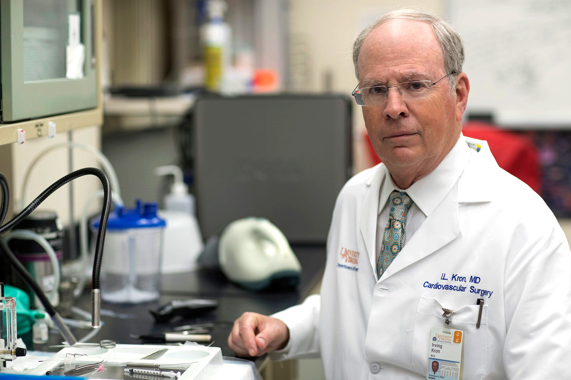 Dr. Irving L. Kron (Photo by Dan Addison, University Communications)