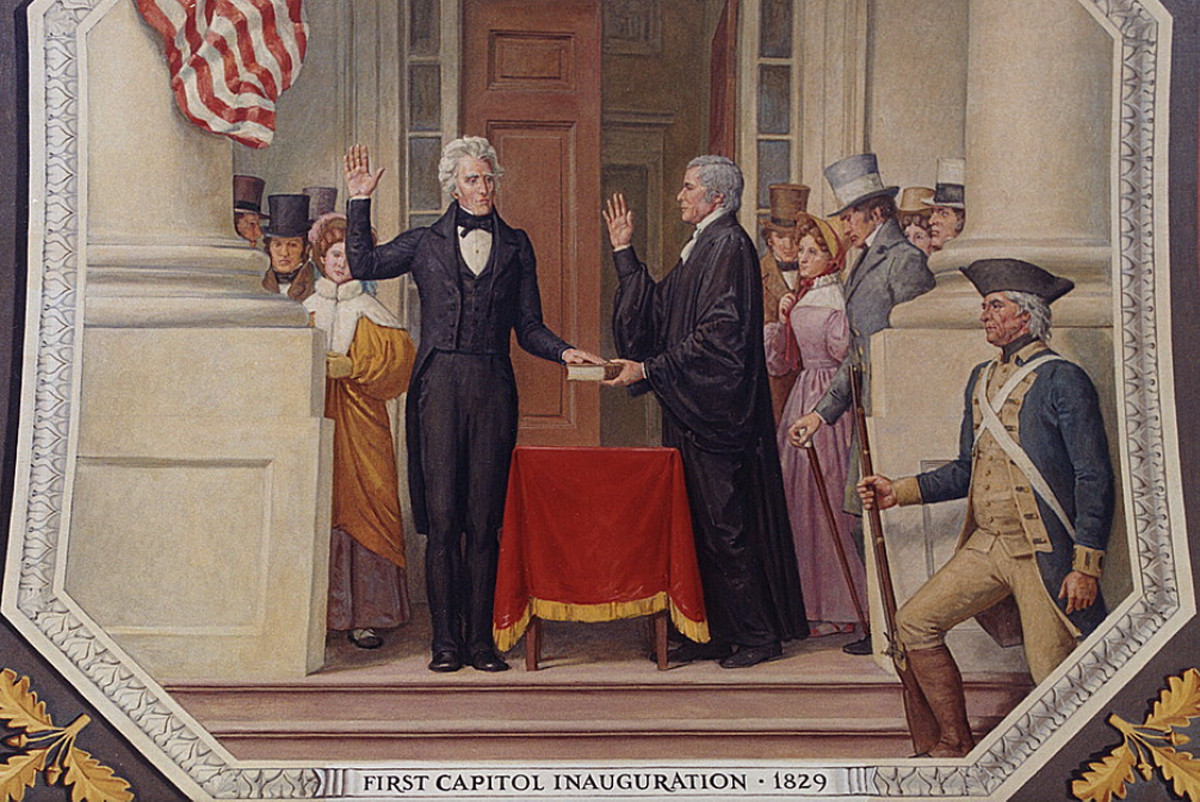 Andrew Jackson's roughhewn supporters made his inauguration one of the most raucous in American history. (Image courtesy Library of Congress)
