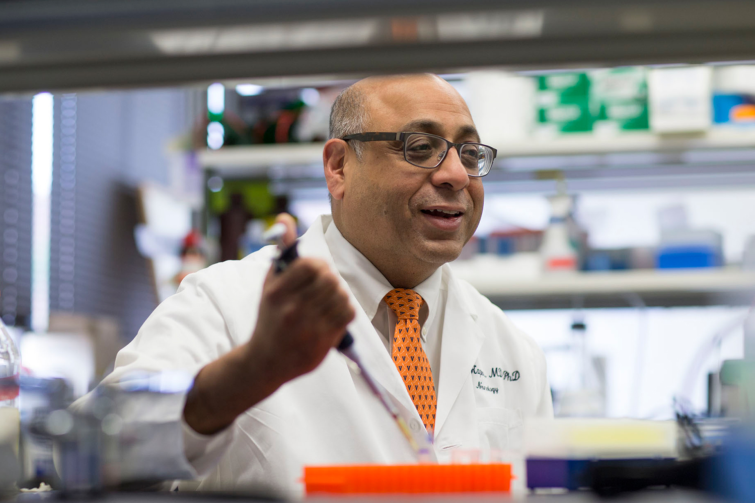 Dr. Jaideep Kapur, director of the UVA Brain Institute, is a chaired professor in the School of Medicine's departments of Neurology and Neuroscience.