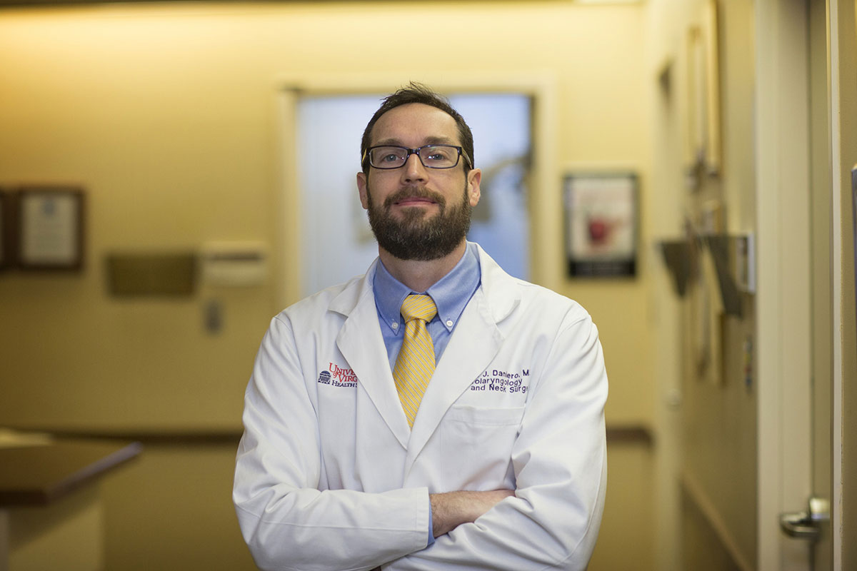 Dr. James Daniero, an otolaryngologist, leads the Health System's Voice and Swallowing Clinic.