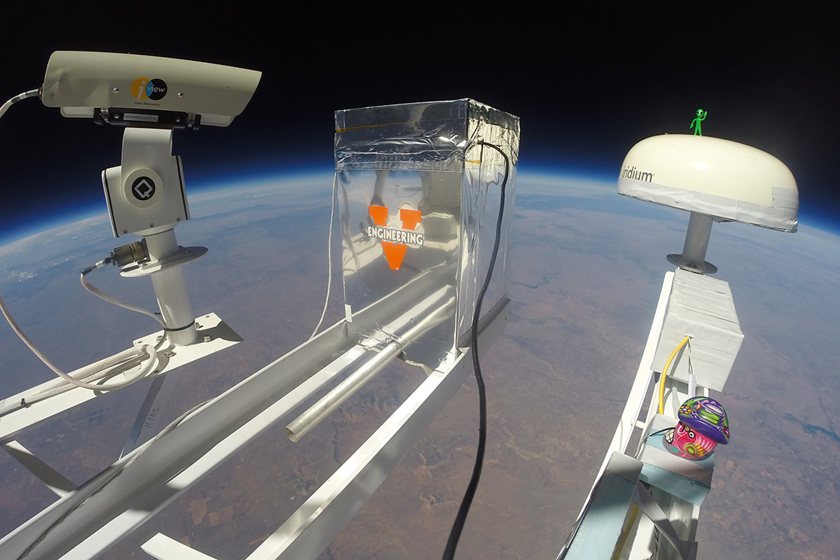 The JefferSat mission collected radiation and other data during its flight to 103,000 feet in October.