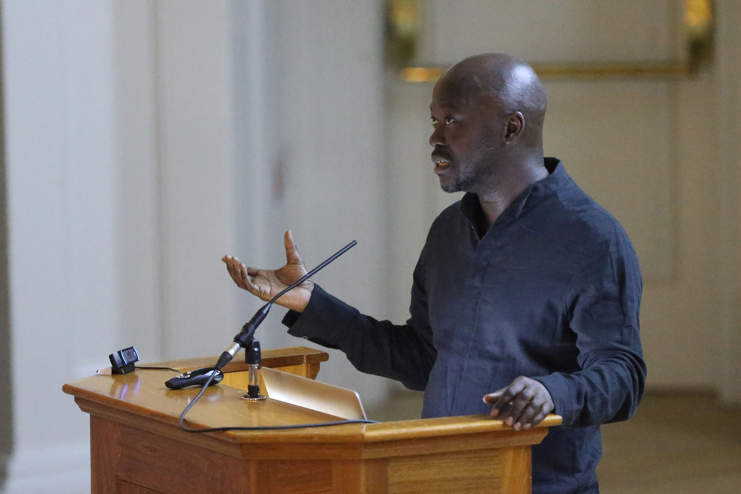 Sir David Adjaye speaking at UVA