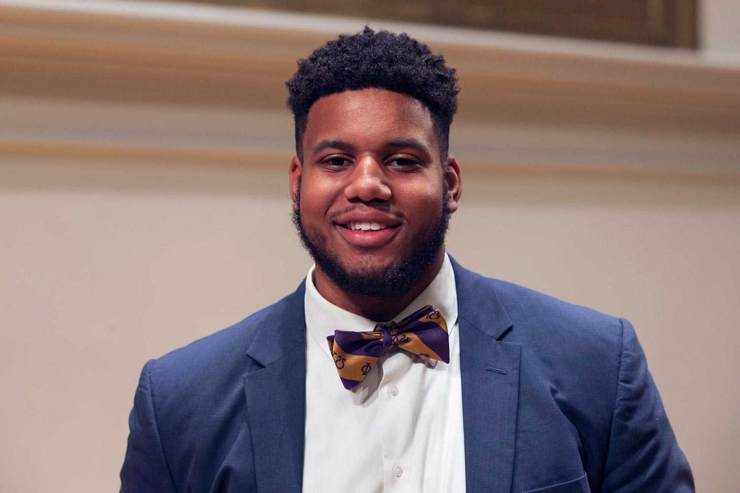 Miles Braxton, a fourth-year student from Richmond majoring in environmental sciences, helped bring Jesse Jackson to UVA.