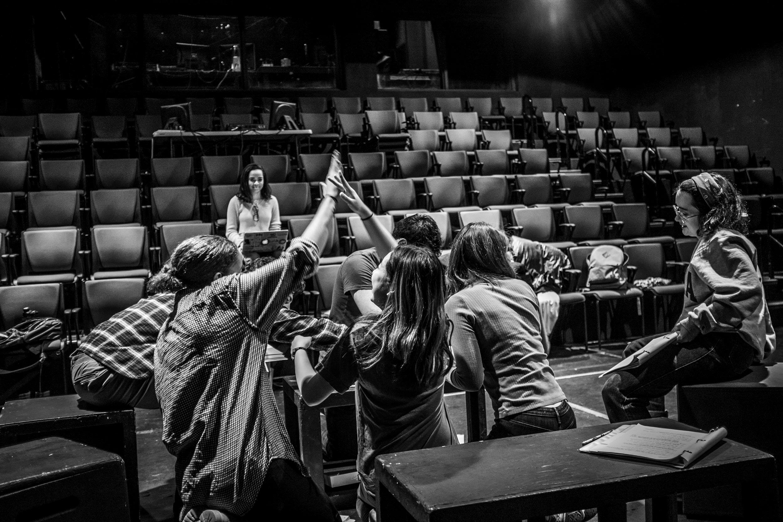 "Harris directs student actors in her original play ""I'm Game,"" which premiered in January at the UVA Drama New Works Festival."