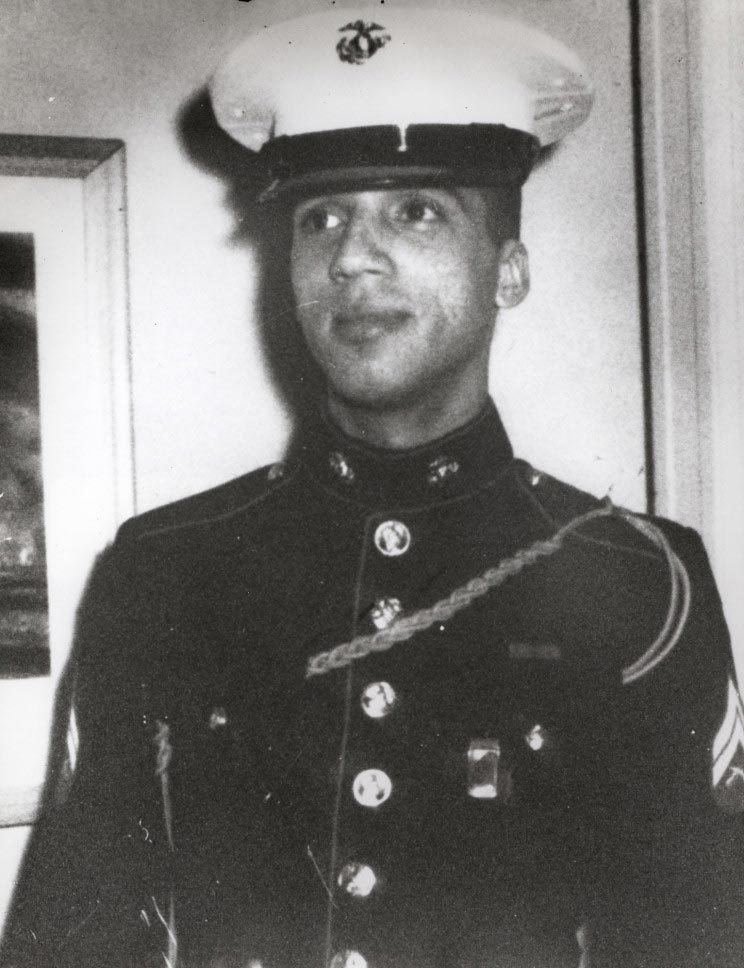 Marine Sgt. Rodney M. Davis threw himself on top of an enemy grenade to save the lives of five fellow Marines in Vietnam in 1967.